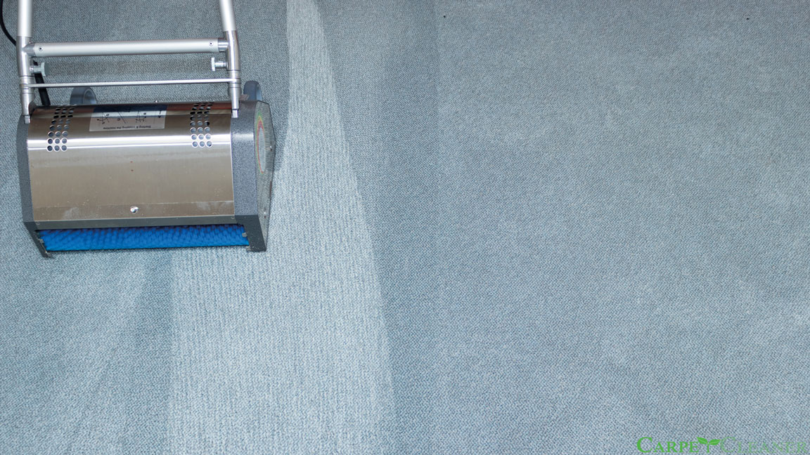 Carpet cleaning with our CRB machines
