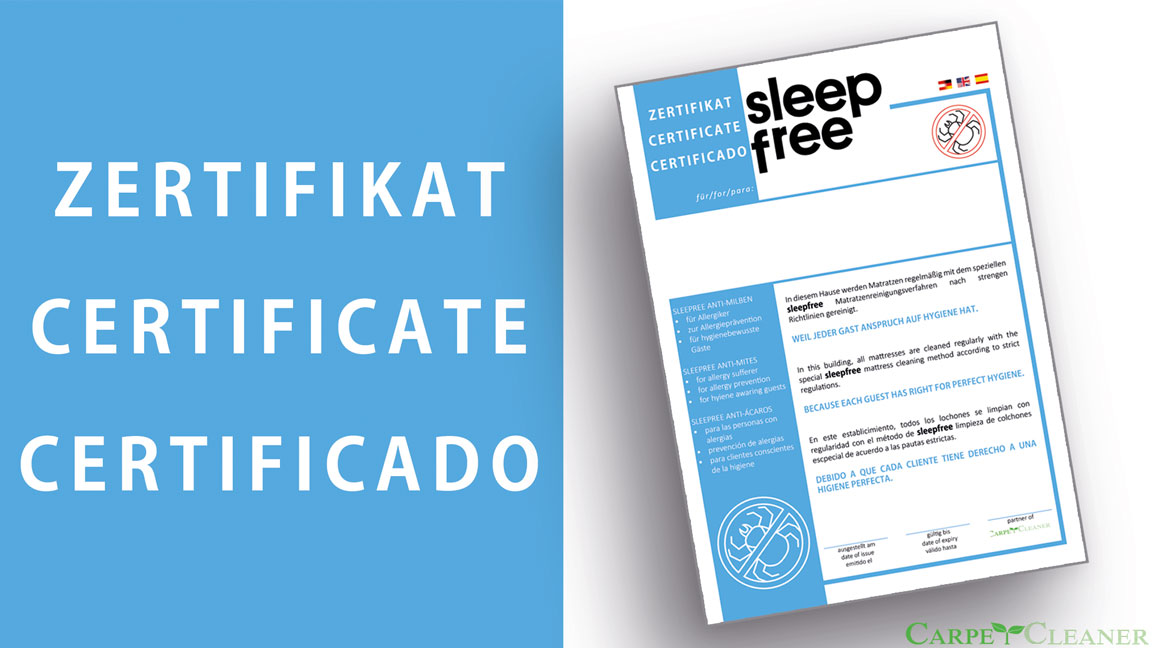 Sleep Free Zertifikat
